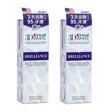 Oral-B - 3D White Brilliance專業美白牙膏(原味) 116g x2