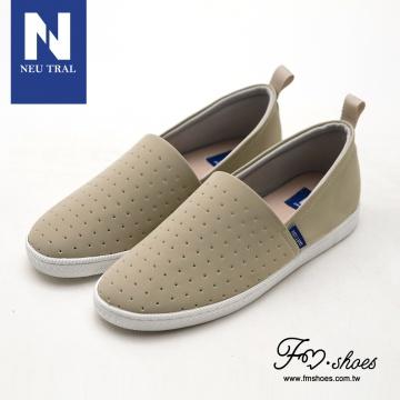 【新品】 Fmshoes NeuTral-二代洞洞涼感懶人鞋-大尺碼-杏