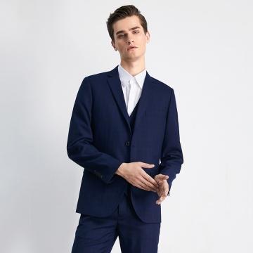 G2000 格子西裝外套 (深藍色) (G8611016479)