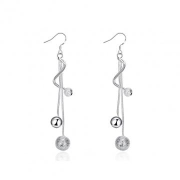 【新品】 Glamorousky 時尚簡約圓珠線條流蘇耳環