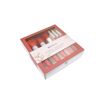 【新品】 Sixplus Lifestyle 6支珊瑚橘化妝掃 (6Pcs Coral Orange Makeup Brush Set)