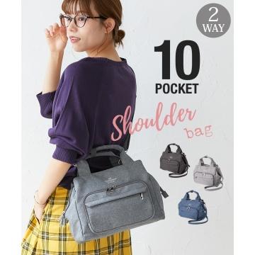 nissen 10口袋2WAY肩背包 (日本女裝)