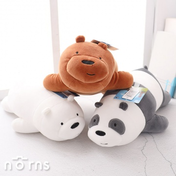 Norns We bare bears 10吋趴姿公仔