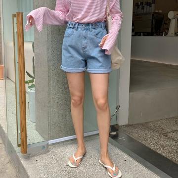 【新品】  韓版新款牛仔短褲 (韓國女裝)