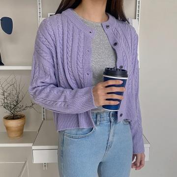 【新品】 QNIGIRLS 韓版時尚針織開襟衫 (韓國女裝)