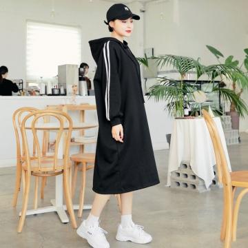 【新品】 HOTPING 寬鬆磨毛連帽連身裙 (韓國女裝)