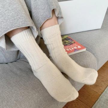 【新品】 SONYUNARA SK 淨色羊毛溫暖短襪 (韓國女裝)