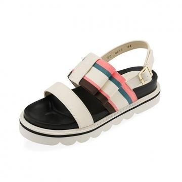 【新品】 SPUR (韓國手製)馬卡龍色厚底休閒涼鞋-象牙